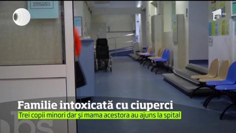 Trei copii şi mama acestora, din judeţul Botoşani, au ajuns la spital după ce au consumat ciuperci otrăvitoare