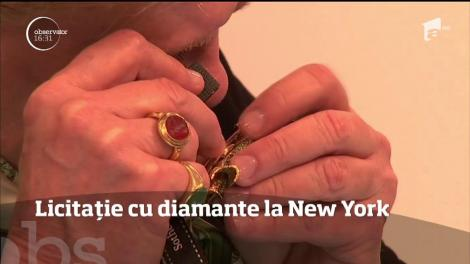 Licitație cu diamante la New York