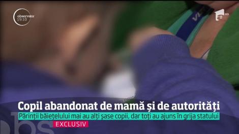 În faţa unui copil abandonat în spital, asistenţii sociali şi-au pasat responsabilitatea luni la rândul