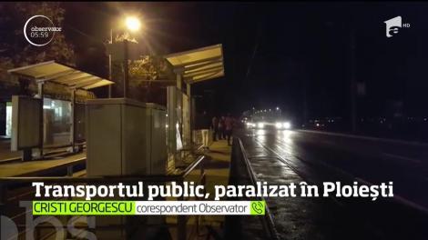 Transportul public în Ploieşti este paralizat, după ce salariaţii Transport Călători Express au intrat în grevă generală!