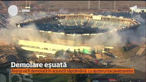 Demolare prin implozie eşuată, la stadionul Pontiac Silverdome din oraşul american Detroit