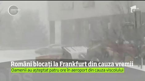 Romăni blocați la Frankfurt din cauza vremii