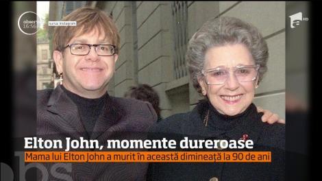 """Anunţul care a întristat o lume întreagă! După o relaţie tumultoasă, ani de zile în care nu şi-au vorbit şi o împăcare neaşteptată, mama lui Elton John a murit: """"Sunt în stare de şoc"""""""