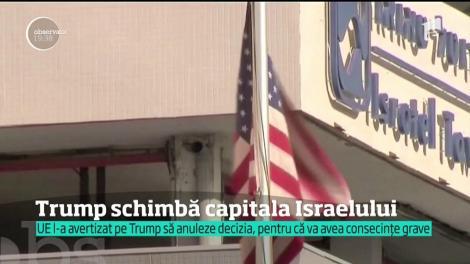 Donald Trump schimbă capitala Israelului