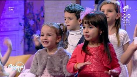"""Magia Crăciunului a ajuns la """"Prietenii de la 11""""! Te molipseşti de bucurie dacă îi asculţi puştii de la """"Atelierul de Muzică Piticii lu' Soreasca"""""""
