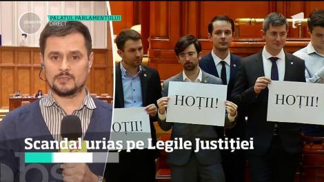 Circ și jigniri în Parlamentul României! Deputații Opoziției au protestat față de modul în care se votează amendamentele