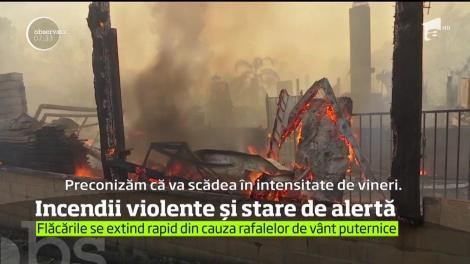 Este stare de alertă în Los Angeles! Un puternic incendiu de vegetaţie face prăpăd în apropiere de oraşul american