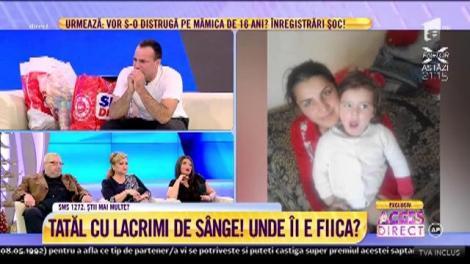 """APEL DISPERAT! Tatăl Marian, în pragul unei crize: """"Poliția nu vrea să-mi spună unde este fiica mea. Nu mai am pentru ce trăi"""""""