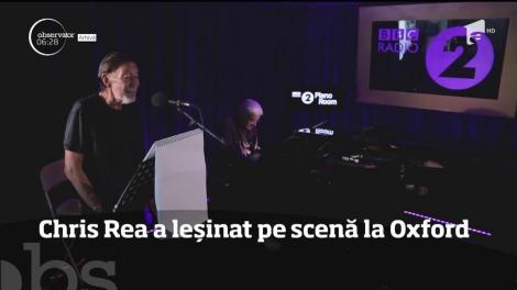 Muzicianul Chris Rea a leșinat pe scenă la Oxford