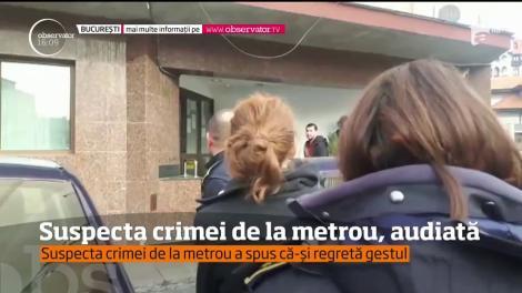 Suspecta în cazul crimei care a şocat întreaga ţara a fost audiată