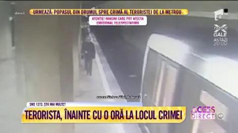 """Terorista, înainte cu o oră la locul crimei! Martor: """"La ora 19 am văzut-o în staţia de la Dristor!"""""""
