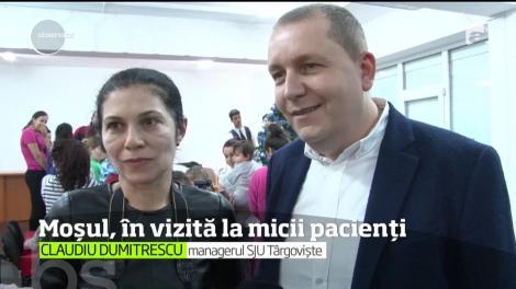 Moş Crăciun le-a alinat suferinţa micilor pacienţi de la spitalul din Târgovişte