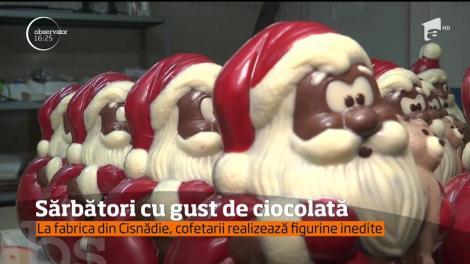 Sărbători cu gust de ciocolată. Cofetarii realizează tot felul de figurine, de toate felurile şi mărimile