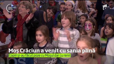 Moș Crăciun a împărțit cadouri copiilor din trustul Intact Media. Prichindeii au fost cei mai fericiți