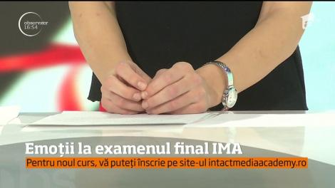 Emoții la examenul final IMA