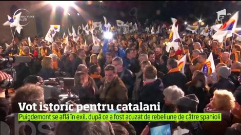 Cetăţenii regiunii Catalonia îşi aleg noul Guvern