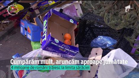 Statisticile arată că aproape 30 kilograme de mâncare ajung la gunoi din fiecare gospodărie