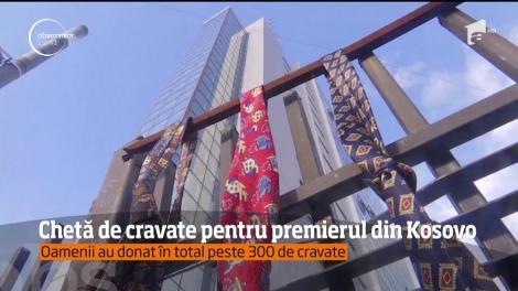 Chetă de cravate pentru premierul din Kosovo