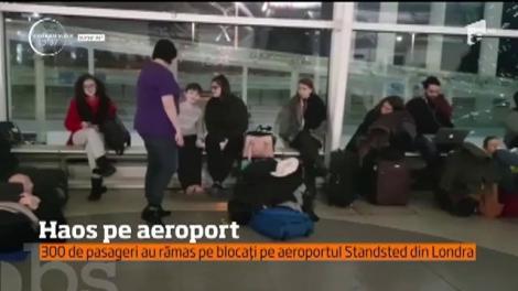 Haos pe aeroportul Standsted din Londra