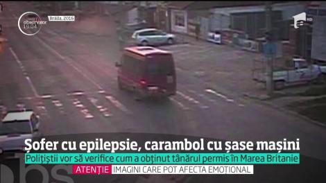 Un şofer bolnav de epilepsie a rănit cinci oameni, pe o stradă din Suceava. Bărbatul a provocat un carambol, după ce i s-a făcut rău la volan