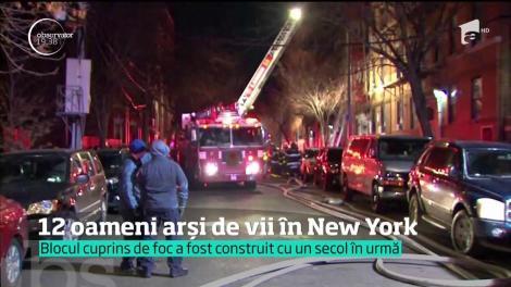 12 oameni arși de vii în New York