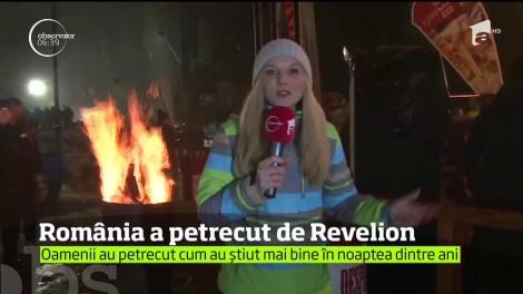 Zeci de mii de români au petrecut de Revelion în stradă, în marile oraşe din ţară