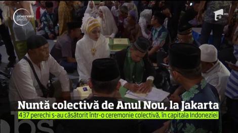 Nuntă colectivă de Anul Nou, în capitala Indoneziei