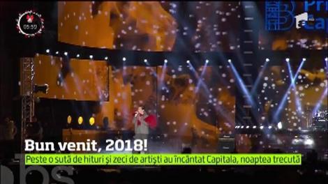 Spectacol grandios în noaptea dintre ani în Capitală. Mii de oameni au întâmpinat 2018 în aer liber la Hit Revelion