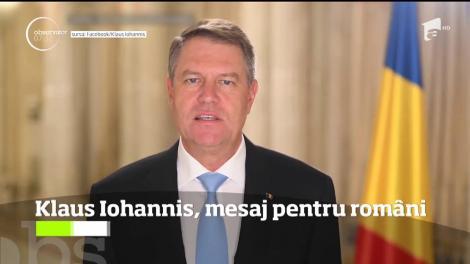 Mesajul lui Klaus Iohannis pentru români de Anul Nou