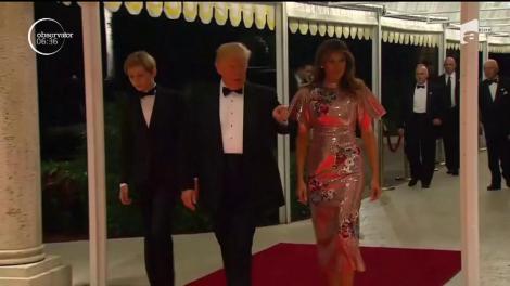 Prima doamnă a Statelor Unite a purtat o rochie de 4.000 de dolari la petrecerea de Anul Nou
