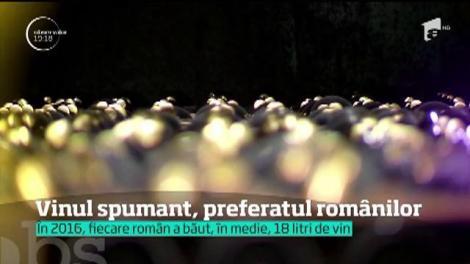 Numai de Revelion, românii au deschis trei milioane de sticle cu vin spumant. Cel mai mult, produs în România