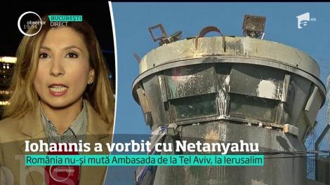 Iohannis a vorbit cu Nethanyahu, premierul Israelului, despre mutarea Ambasadei României de la Tel Aviv la Ierusalim