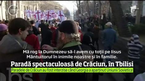Creştinii ortodocşi din Georgia au sărbătorit Crăciunul pe rit vechi