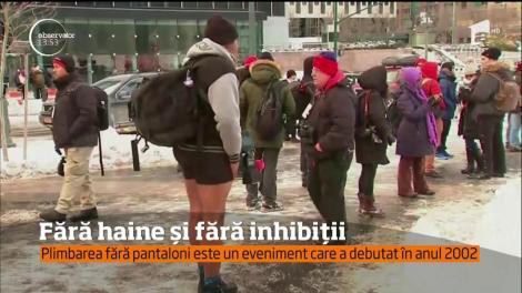 A fost ziua mondială a plimbărilor fără pantaloni la metrou