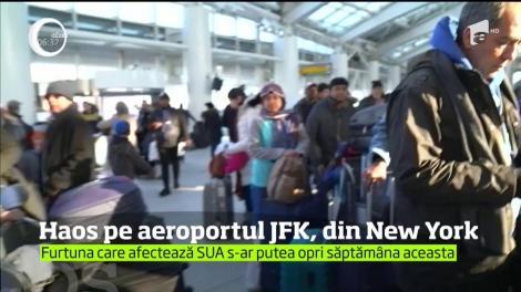 Furtuna polară a creat haos pe aeroportul JFK din New York! Peste şase mii de curse au fost anulate sau amânate din cauza viscolului şi a ninsorilor
