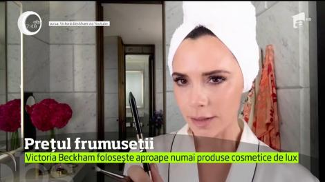 Victoria Beckham a dezvăluit că foloseşte zilnic produse cosmetice în valoare de 1.400 de euro