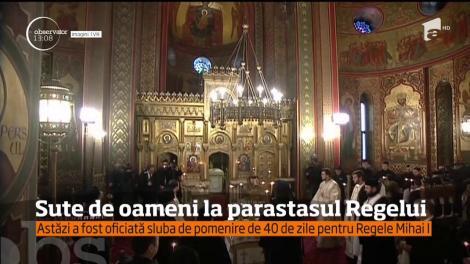 40 de zile de la funeraliile Regelui Mihai I. La slujbă a ajuns şi nepotul ultimului suveran al Românilor, Nicolae