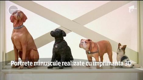 Portrete minuscule realizate cu imprimanta 3D