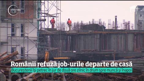 Românii refuză job-urile departe de casă. Într-un an, angajaţii din Capitală îşi petrec 22 de zile în trafic!