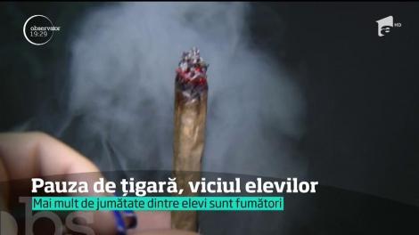 Scandalos! Tu știi ce face copilul tău la școală? Nouă din zece elevi români au fumat și au băut alcool cel puțin o dată în viață