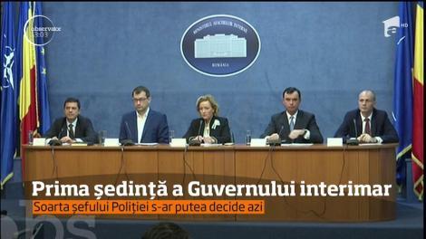 Prima ședință a Guvernului interimar
