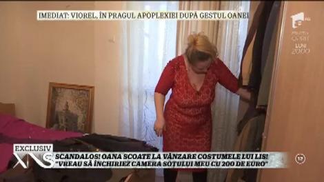 """Oana Lis, la sapă de lemn! Scoate la vânzare costumele lui Viorel: """"Vreau să închiriez camera soțului meu cu 200 de euro"""""""