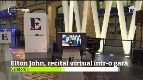 Elton John, recital virtual într-o gară