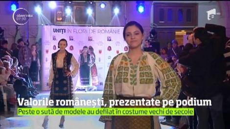 Valorile românești, prezentate pe podium