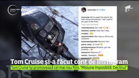 """Tom Cruise și-a făcut cont de Instagram ca să-și promoveze ultimul film seria """"Misiune Imposibilă"""""""