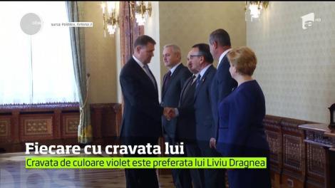 Liderii politici din România îşi aleg cravatele nu numai pentru a fi în ton cu ţinuta, ci şi în funcţie de superstiţii