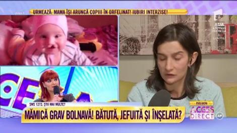"""Elena, mama Lăcrămioarei, explică motivul abandonării în orfelinat: """"S-a născut cu o malformație la gură"""""""