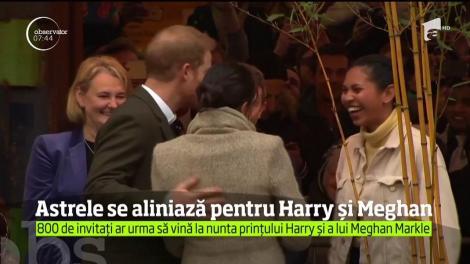 Astrele îi zâmbesc noului cuplu princiar britanic