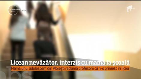 Profesorii unui liceu din Ploieşti, acuzaţi că discriminează un adolescent nevăzător!