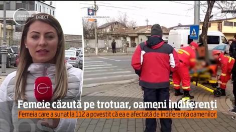 O tânără a leşinat pe o stradă din Focşani. Au trecut minute bune până să fie băgată în seamă de cineva